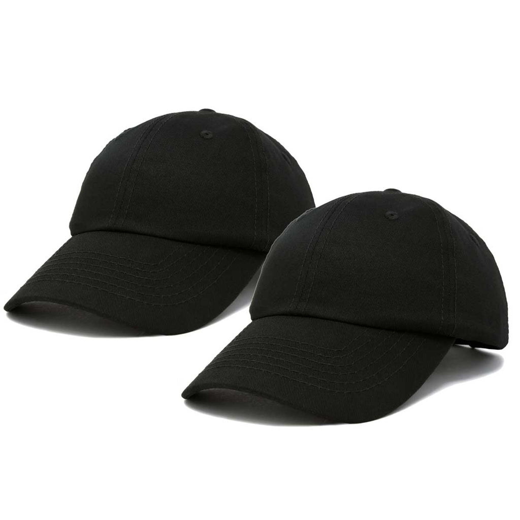DALIX Plain Dad Hats 2 Pack Deal
