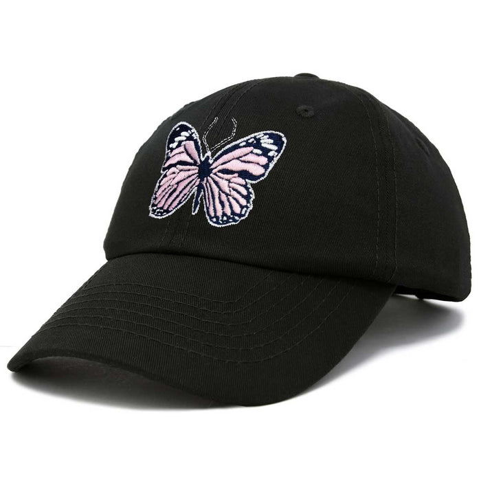 DALIX Pink Butterfly Hat Cute Womens Gift Embroidered Girls Cap