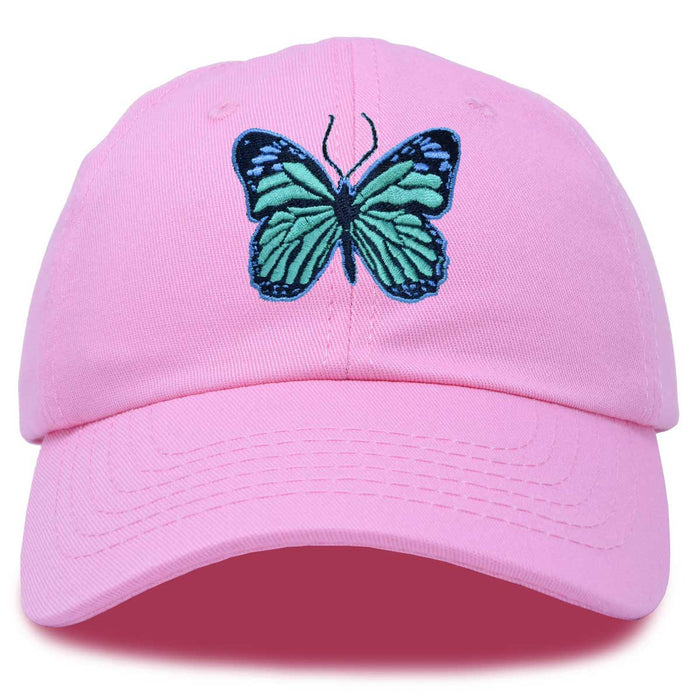 DALIX Exotic Blue Butterfly Hat Womens Gift Embroidered Girls Cap