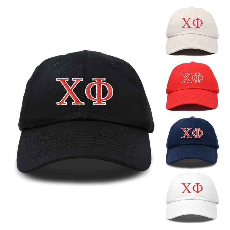 Chi Phi Fraternity Greek Letters Ball Cap Embroidered Hat