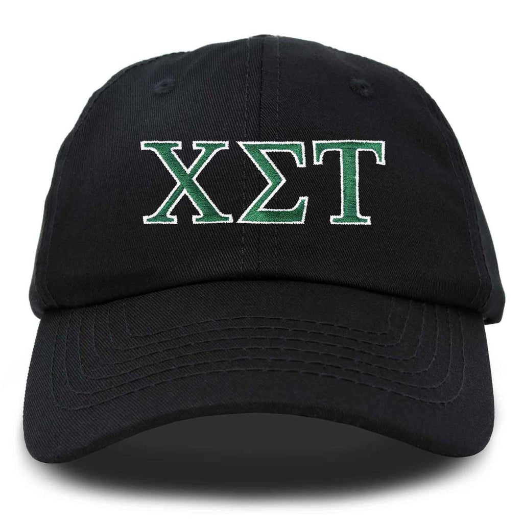 Chi Sigma Tau Fraternity Greek Letters Ball Cap Embroidered Hat