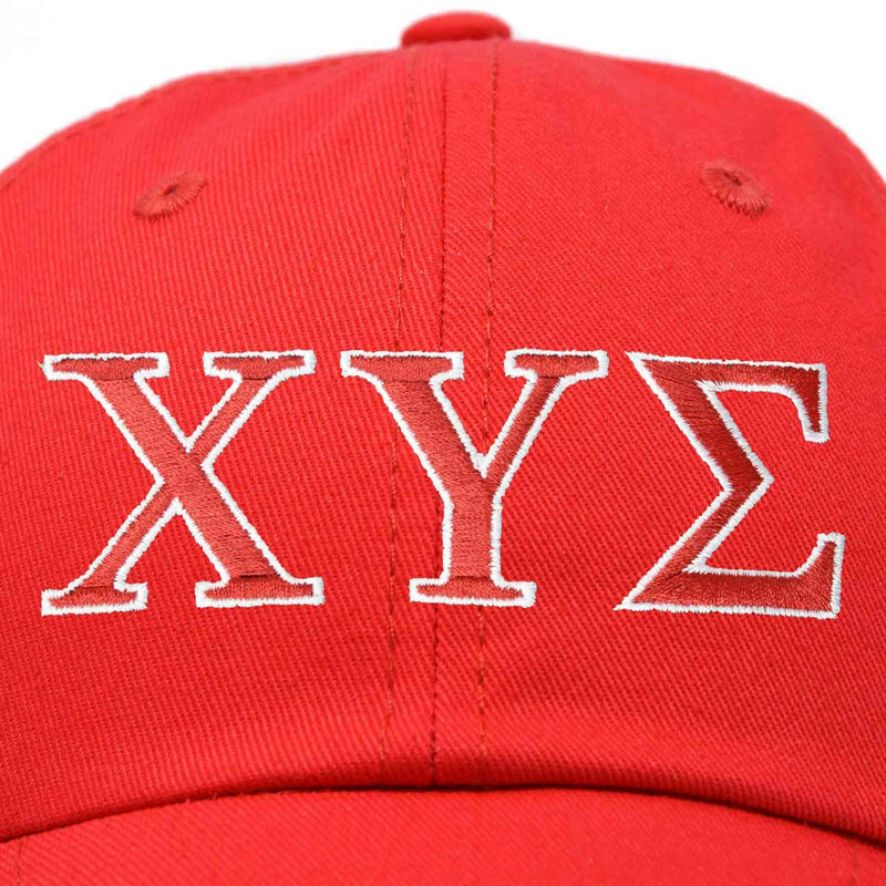 Chi Upsilon Sigma Sorority Hat Womens Greek Letters Embroidered Baseball Cap