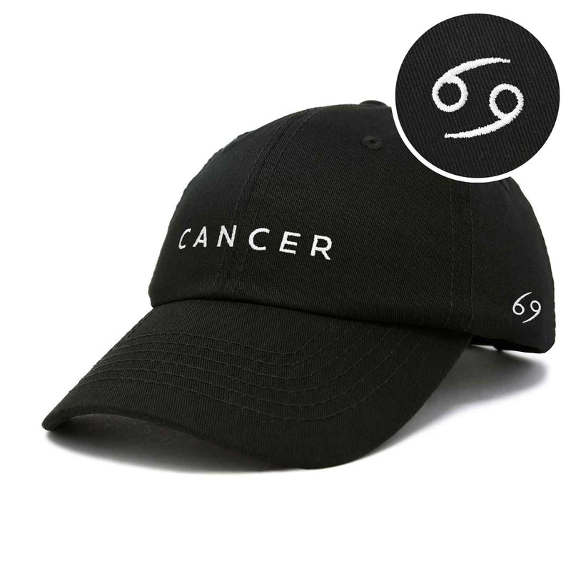 DALIX Zodiac Sign Cancer Hat Womens Embroidered Horoscope Baseball Cap