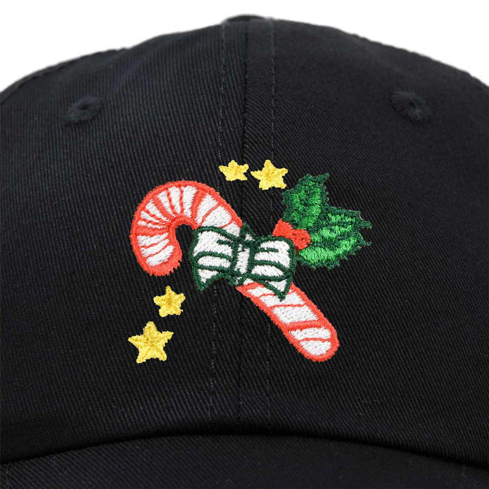 DALIX Christmas Candy Cane Hat Womens Embroidered Baseball Cap