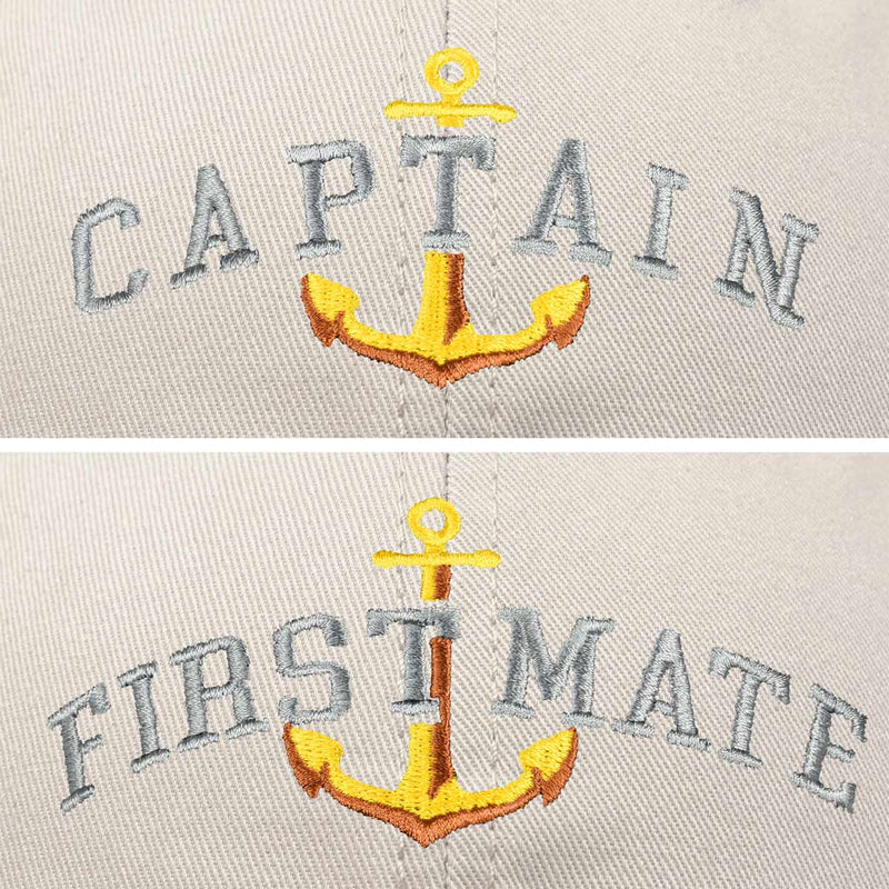 DALIX Matching Captain And First Mate Hat Set Embroidered Ball Cap