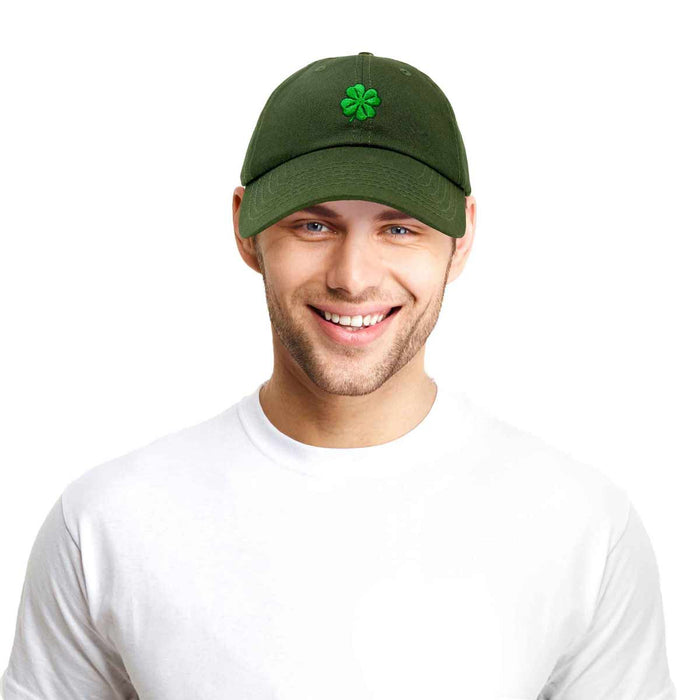 DALIX Four Leaf Clover Hat Baseball Cap St. Patrick's Day Cotton Caps