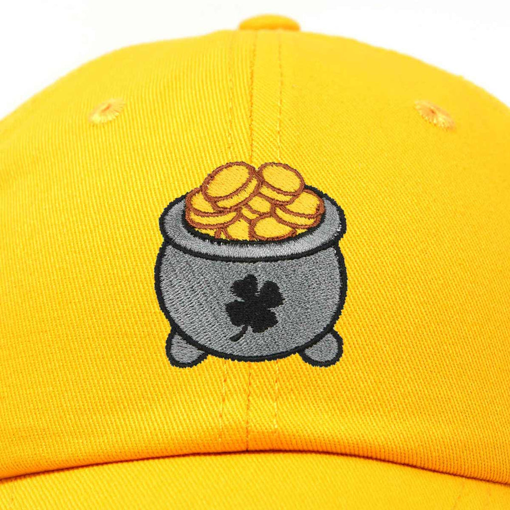 DALIX Lucky Pot Of Gold Hat Womens Embroidered Baseball Cap