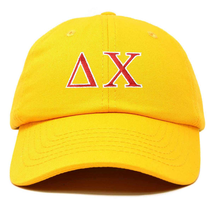 Delta Chi Fraternity Greek Letters Ball Cap Embroidered Hat