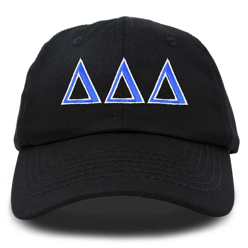 Delta Delta Delta Sorority Hat Womens Greek Letters Embroidered Baseball Cap