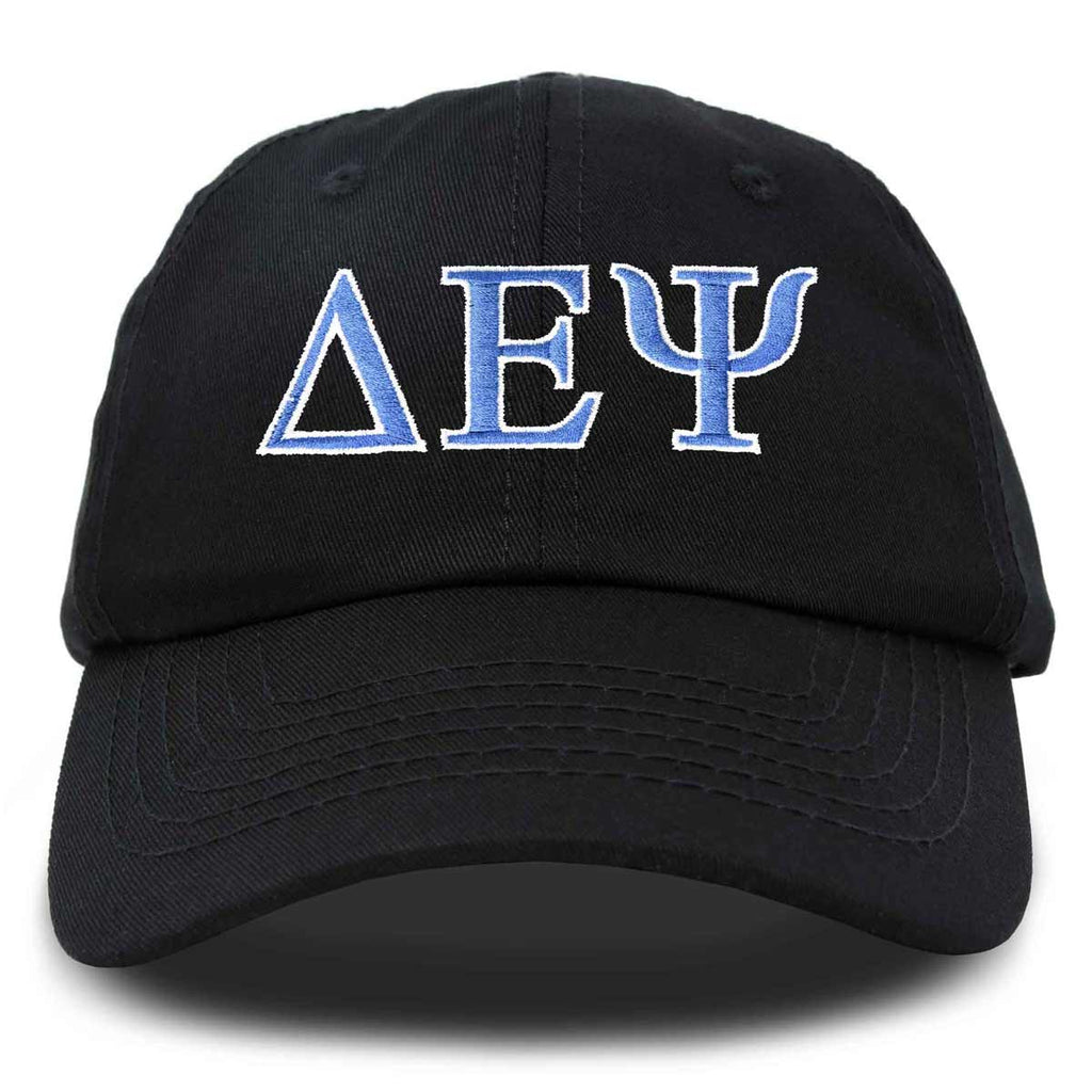Delta Epsilon Psi Fraternity Greek Letters Ball Cap Embroidered Hat
