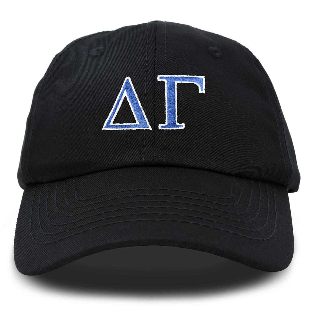 Delta Gamma Sorority Hat Womens Greek Letters Embroidered Baseball Cap