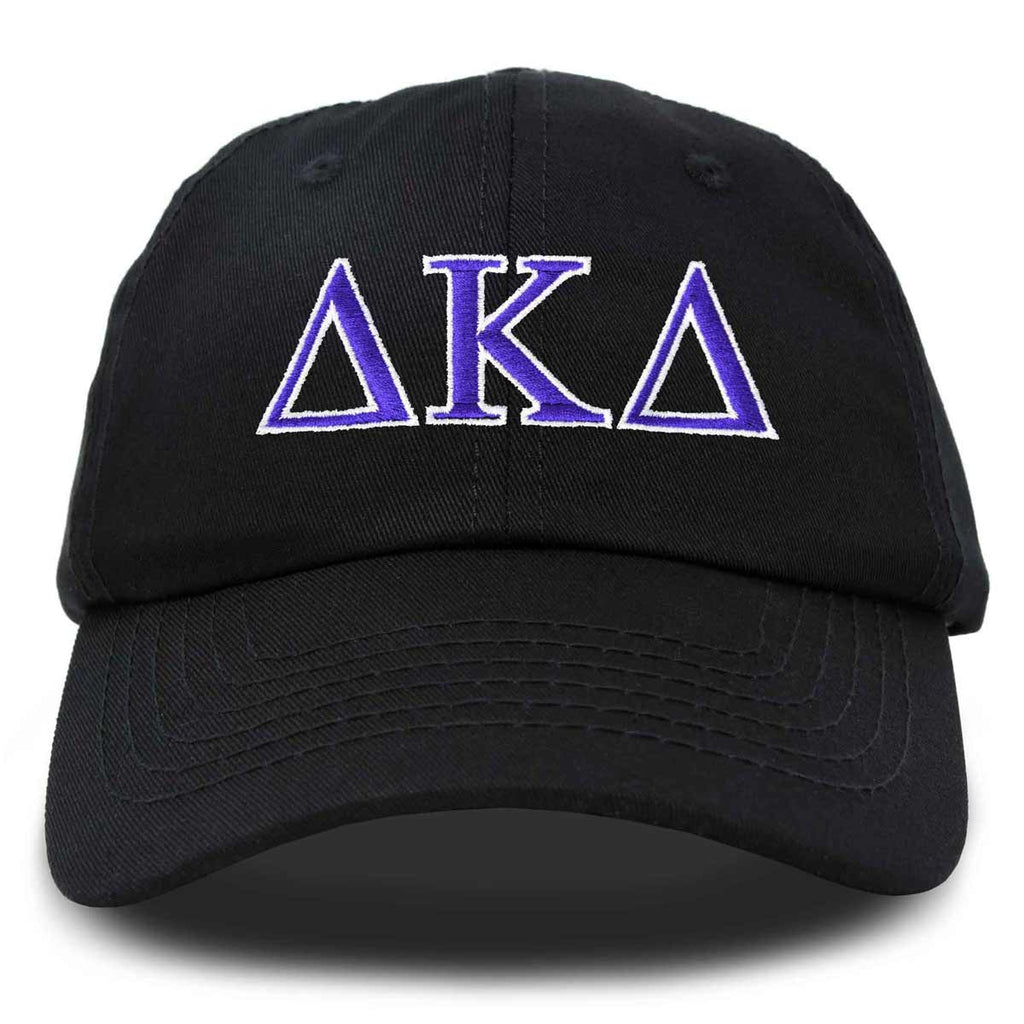 Delta Kappa Delta Sorority Hat Womens Greek Letters Embroidered Baseball Cap