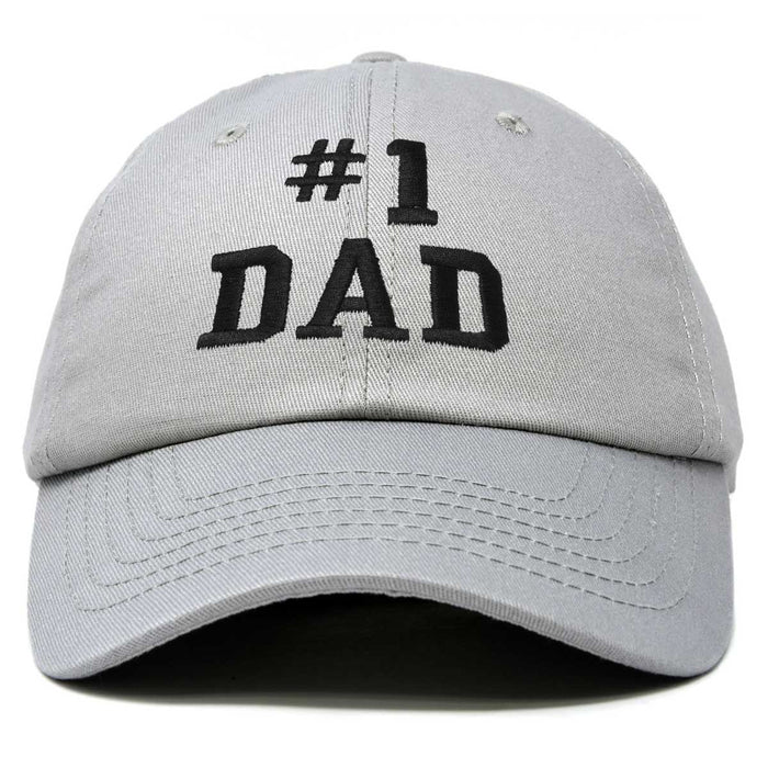 DALIX #1 Dad Hat Number One Fathers Day Gift Embroidered Baseball Cap