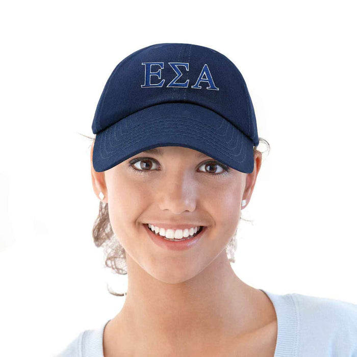 DALIX Epsilon Sigma Alpha Greek Letters Hat Womens Embroidered Baseball Cap