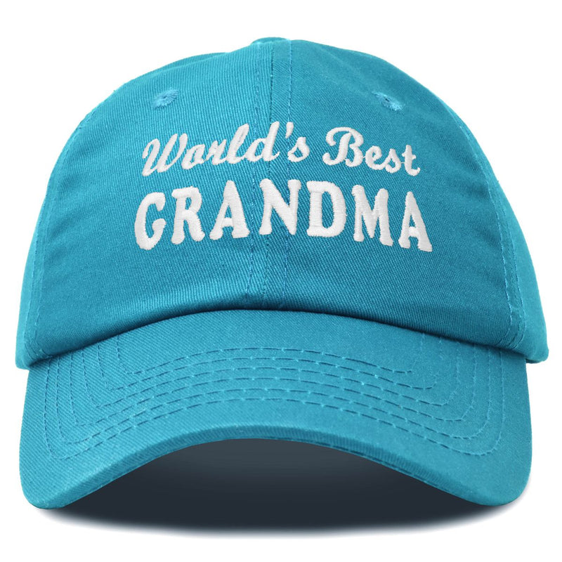 DALIX Worlds Best Grandma Hat Gift Embroidered Cotton Cap