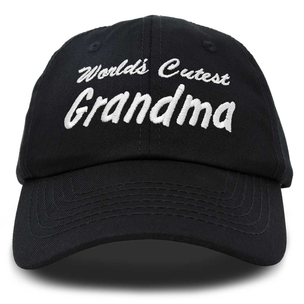 DALIX Worlds Cutest Grandma Hat Gift Embroidered Cotton Cap