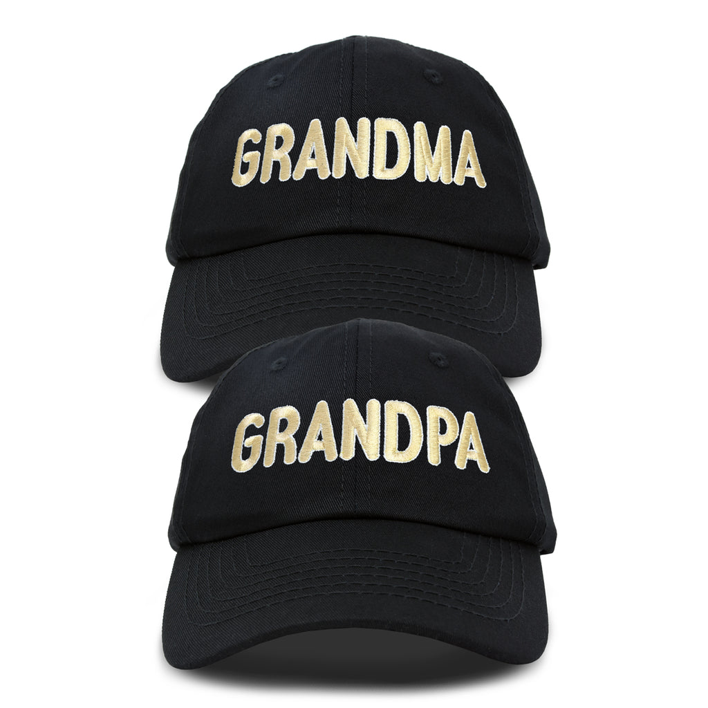 DALIX Matching Grandma And Grandpa Ball Cap Embroidered Hat Set