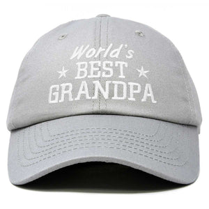 DALIX Worlds Best Grandpa Dad Hat Grandfather Gift Cotton Cap