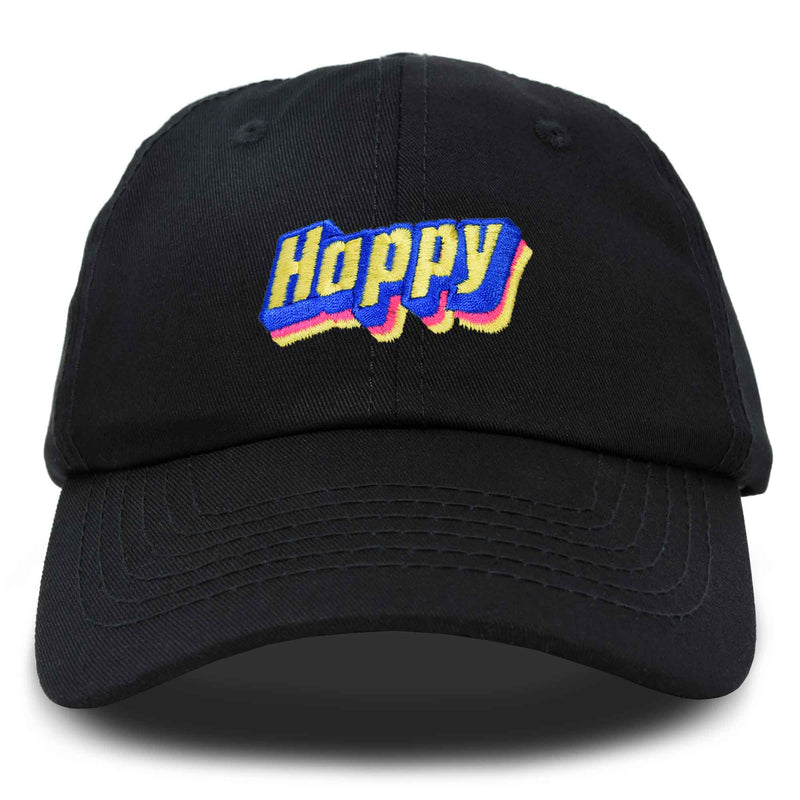 DALIX Colorful Happy Hat Mens Womens Embroidered Baseball Cap