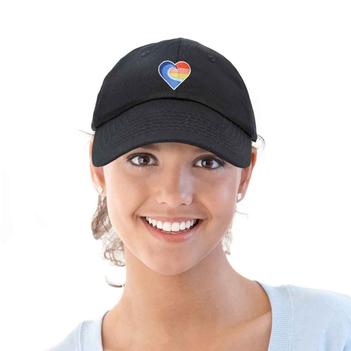 DALIX Heartwave Hat Embroidered Surf Baseball Cap Womens