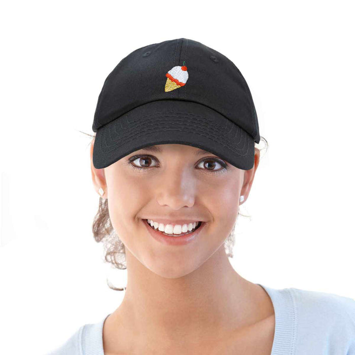 DALIX Ice Cream Womens Dad Hat Cotton Twill Baseball Cap Embroidered Hats