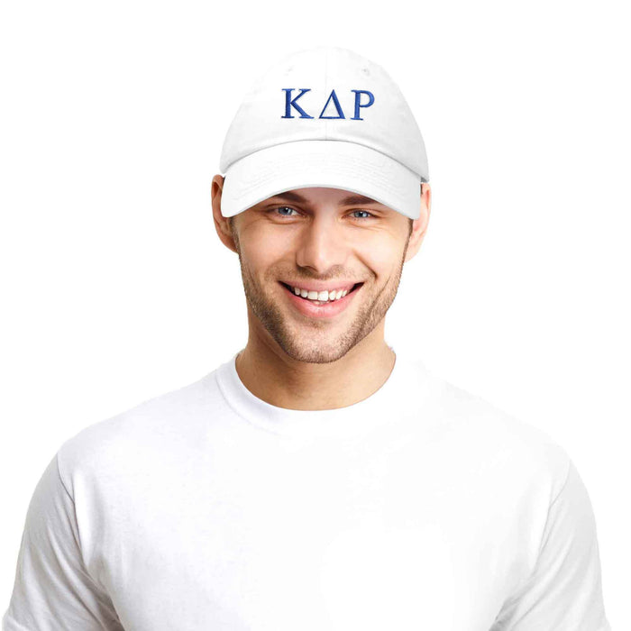 DALIX Kappa Delta Rho Greek Letters Ball Cap Embroidered Fraternity Hat