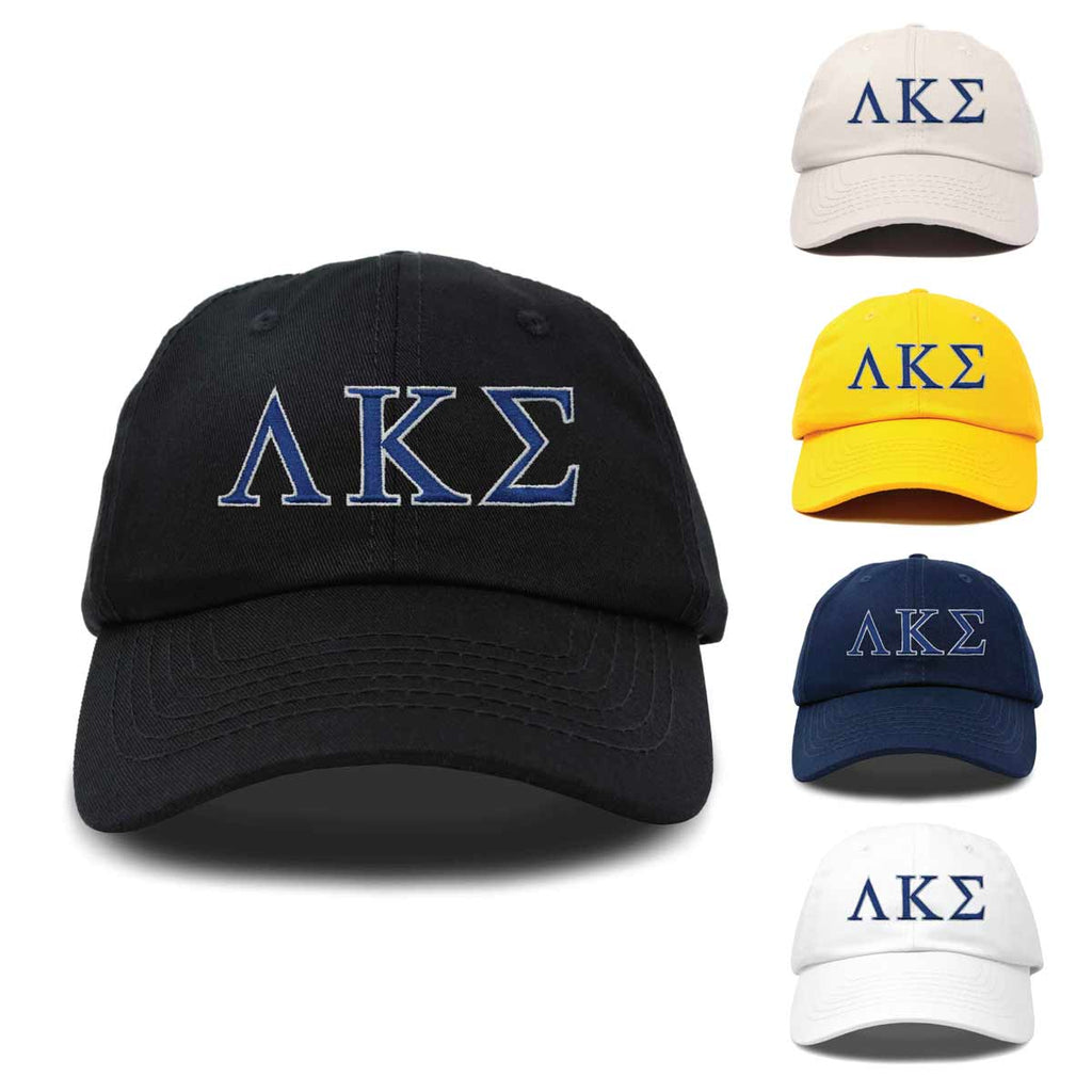 DALIX Lambda Kappa Sigma Greek Letters Hat Womens Embroidered Baseball Cap