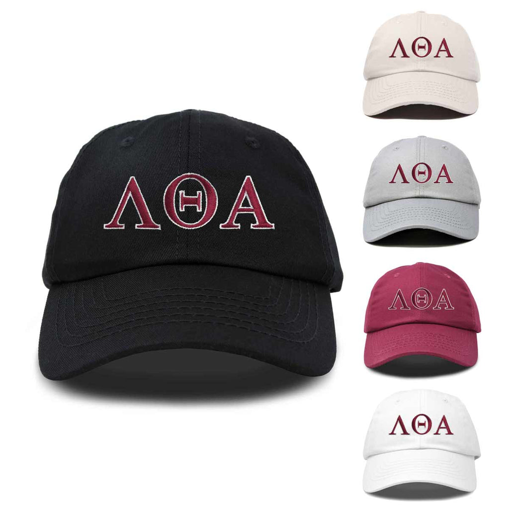 DALIX Lambda Theta Alpha Greek Letters Hat Womens Embroidered Baseball Cap
