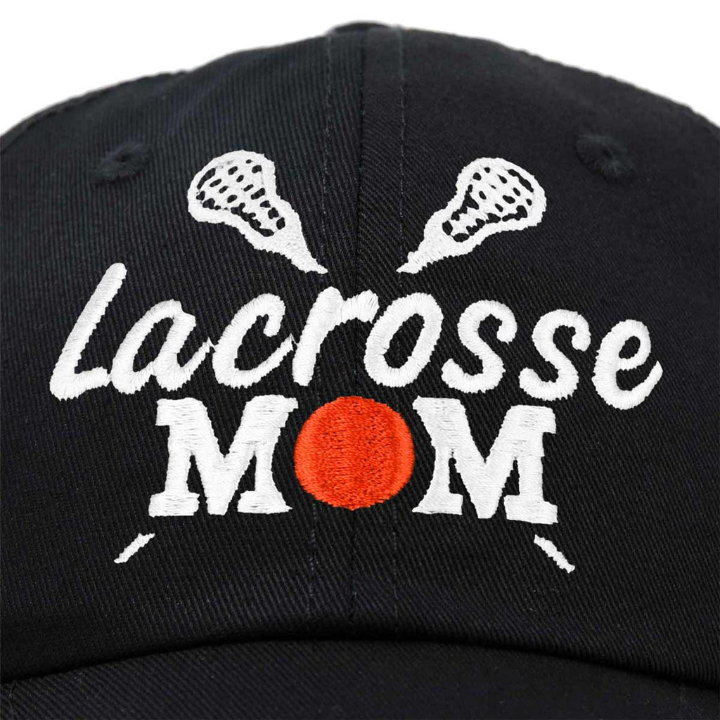 DALIX Lacrosse Mom Hat Women's Baseball Caps Unstructured Dad Hats