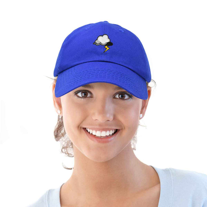 DALIX Stormy Lightning Hat Womens Embroidered Baseball Cap