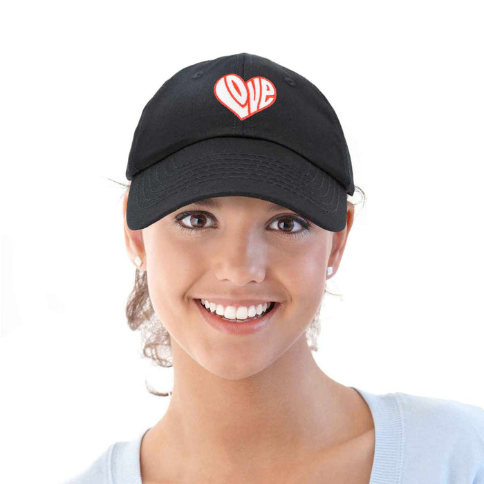 DALIX Love Heart Hat Womens Embroidered Baseball Cap