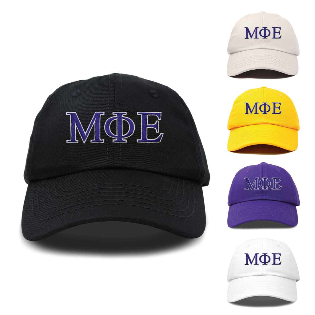 DALIX Mu Phi Epsilon Greek Letters Ball Cap Embroidered Hat