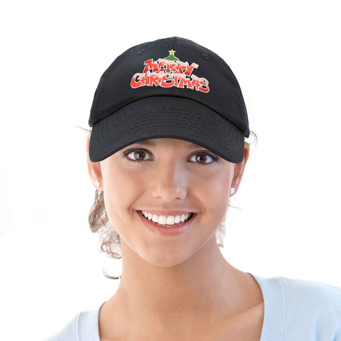 DALIX Holidays Merry Christmas Hat Womens Embroidered Baseball Cap