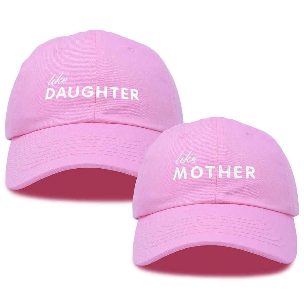 DALIX Mommy and Me Embroidered Hats Dad Caps Like Mother Like Daughter Hat