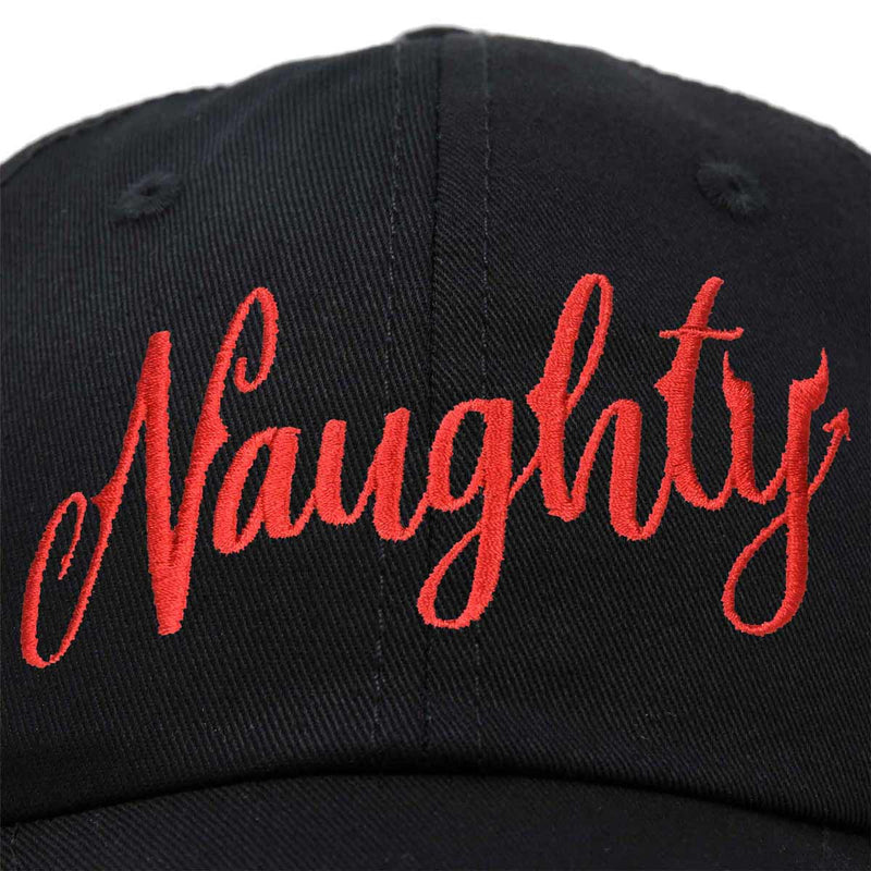 DALIX Naughty or Nice - Naughty Christmas Hat Womens Embroidered Baseball Cap
