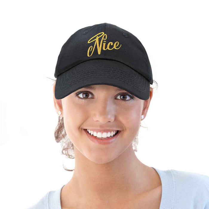 DALIX Naughty or Nice - Nice Christmas Hat Womens Embroidered Baseball Cap