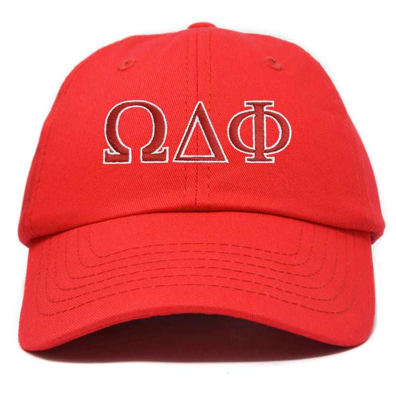 DALIX Omega Delta Phi Greek Letters Ball Cap Embroidered Hat