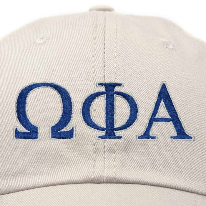 DALIX Omega Phi Alpha Greek Letters Hat Womens Embroidered Baseball Cap
