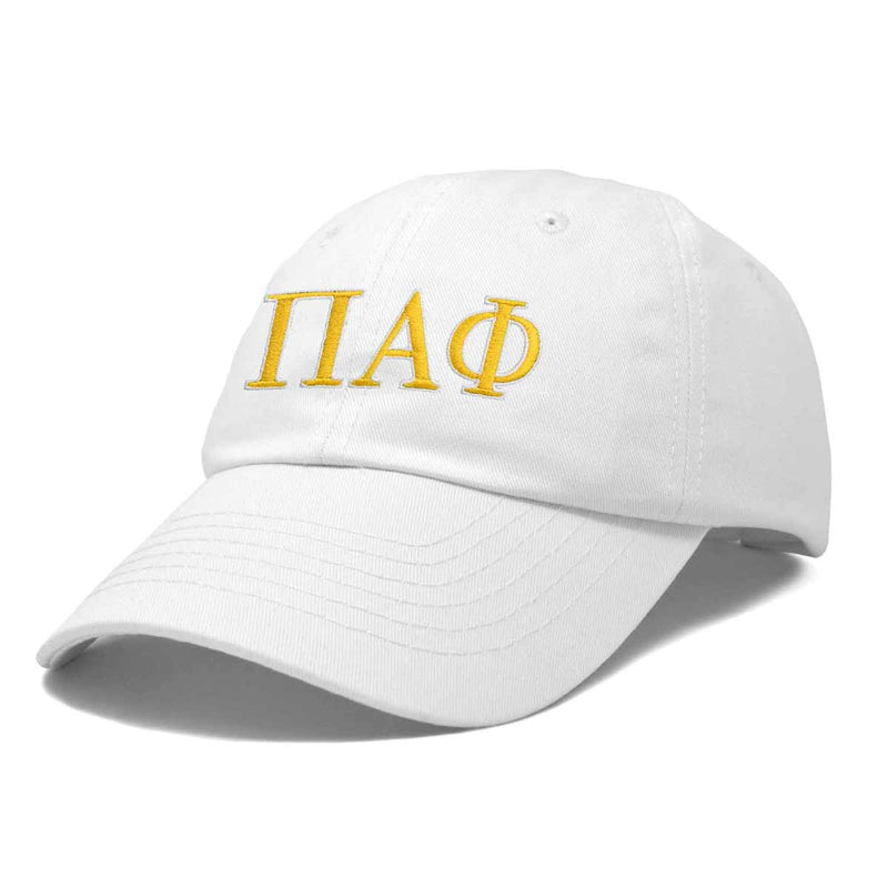 DALIX Pi Alpha Phi Greek Letters Ball Cap Embroidered Hat