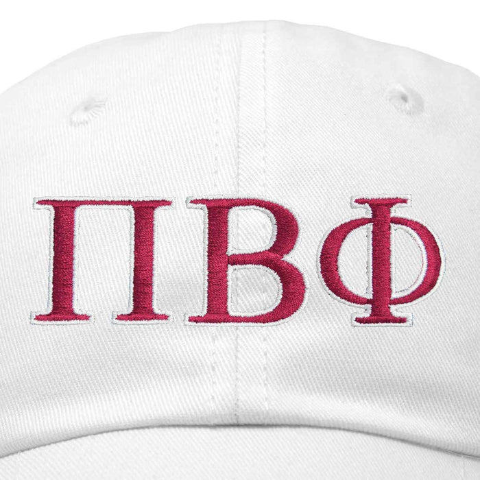 DALIX Pi Beta Phi Greek Letters Hat Womens Embroidered Baseball Cap