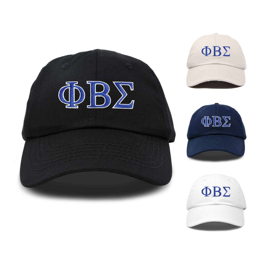 DALIX Phi Beta Sigma Greek Letters Ball Cap Embroidered Hat