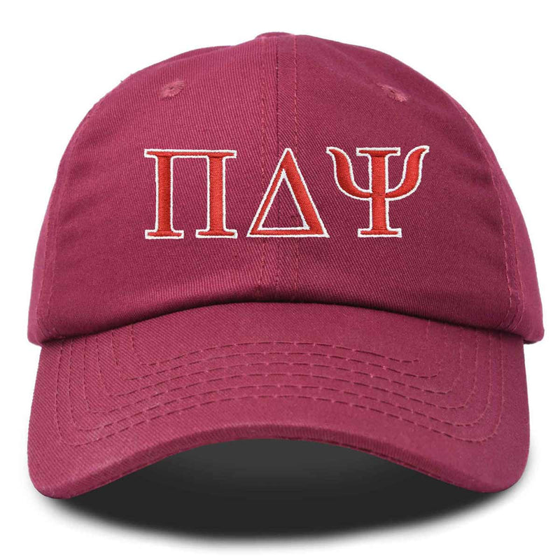 DALIX Pi Delta Psi Greek Letters Ball Cap Embroidered Fraternity Hat