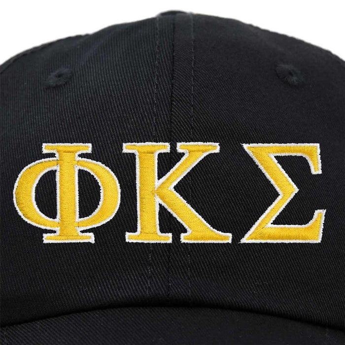 DALIX Phi Kappa Sigma Greek Letters Ball Cap Embroidered Hat