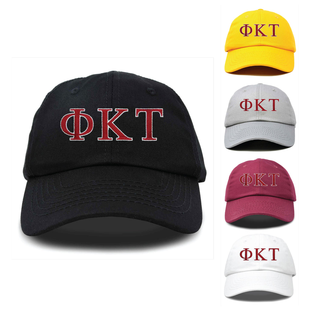 DALIX Phi Kappa Tau Greek Letters Ball Cap Embroidered Hat