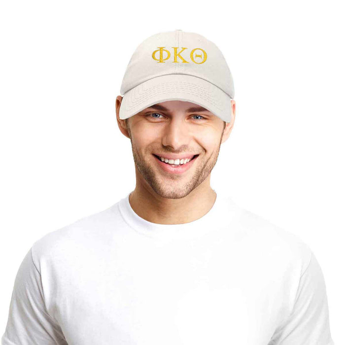DALIX Phi Kappa Theta Greek Letters Ball Cap Embroidered Hat