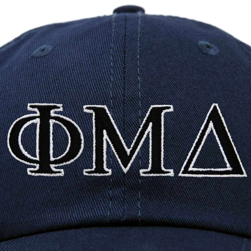 DALIX Phi Mu Delta Greek Letters Ball Cap Embroidered Hat