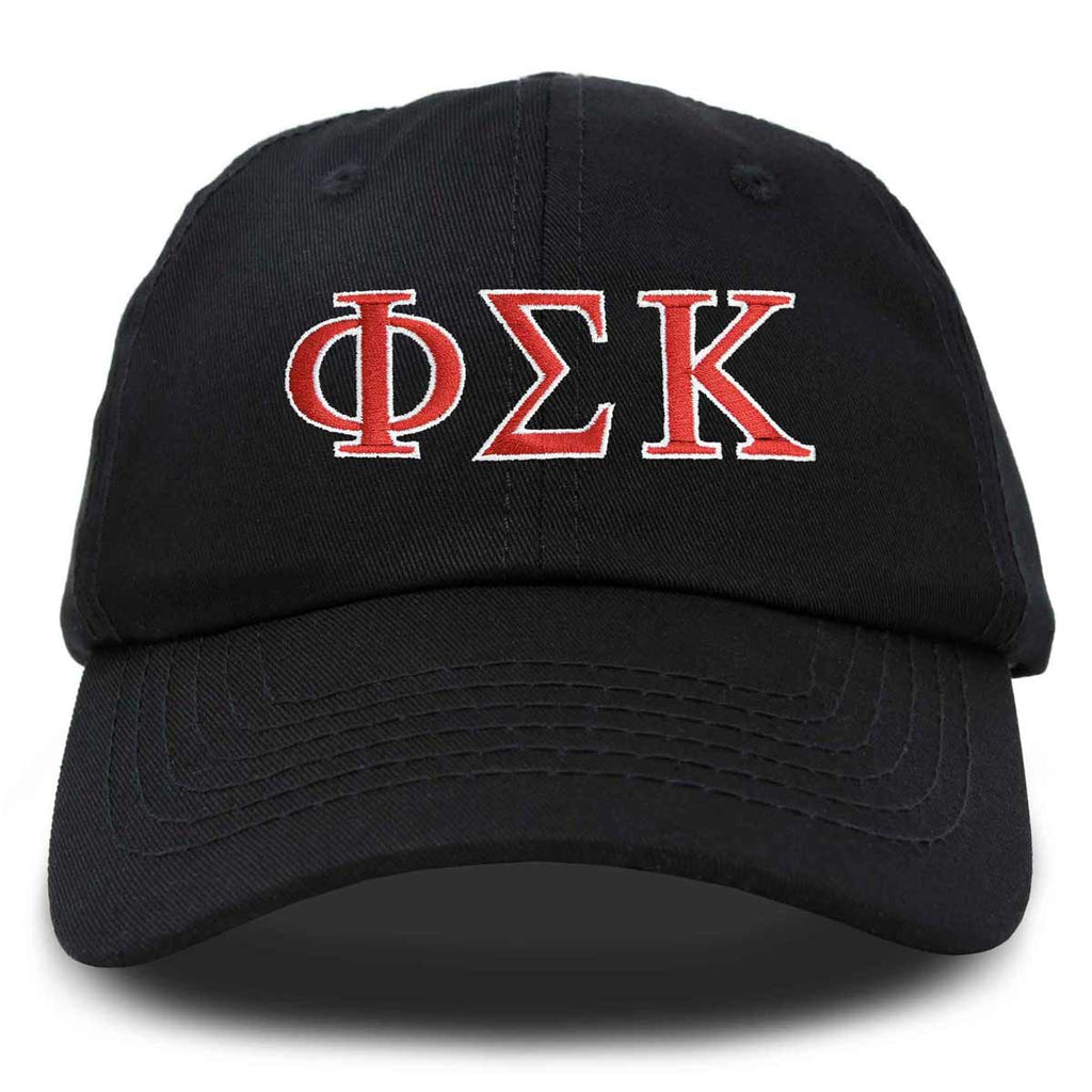 DALIX Phi Sigma Kappa Greek Letters Ball Cap Embroidered Hat