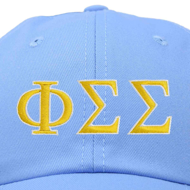 DALIX Phi Sigma Sigma Greek Letters Hat Womens Embroidered Baseball Cap