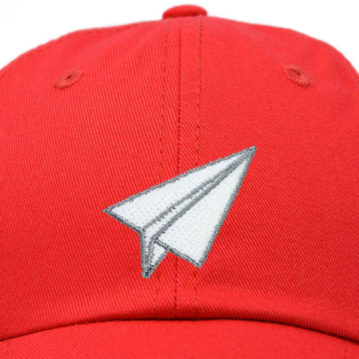 DALIX Paper Plane Hat Embroidered Mens Womens Baseball Cap