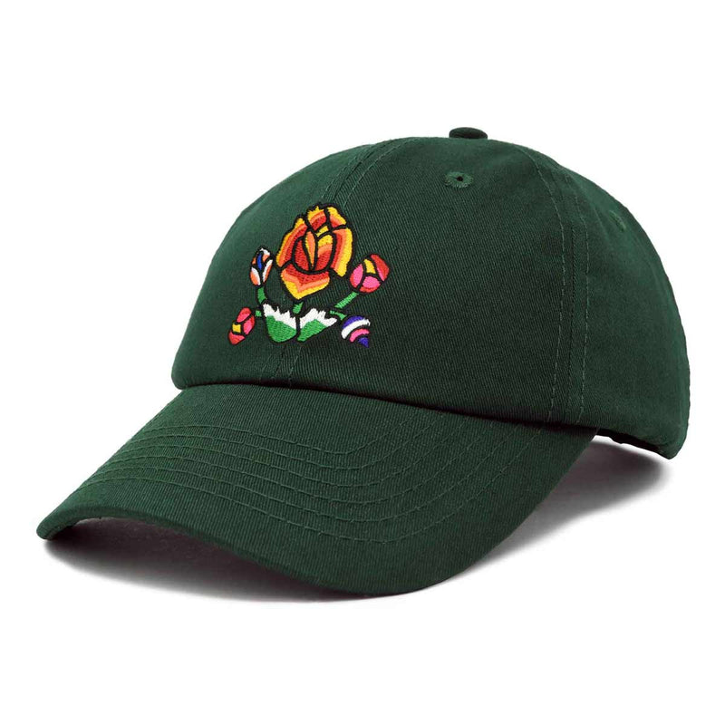 DALIX Latin Floral Lily Hat Womens Embroidered Baseball Cap